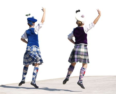 Highland Dancing Lassies Isolated