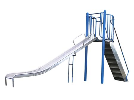 Playground slide isolated  photo