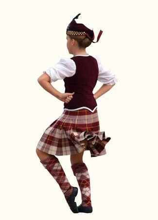 strathspey: Highland dancer