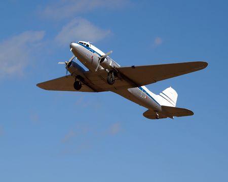 undercarriage: Vintage Passenger Plane