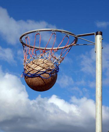Ball going through the net