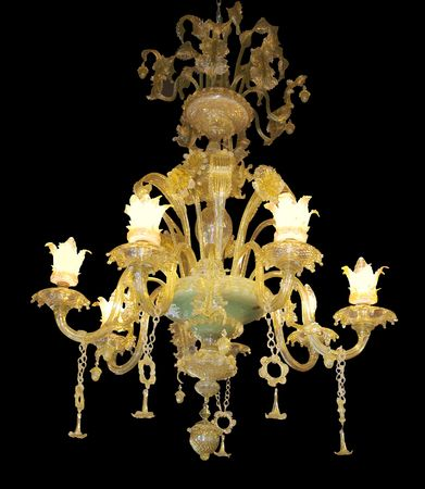 Ornate Chandelier with Jade Centre isolated Stock Photo - 3287641