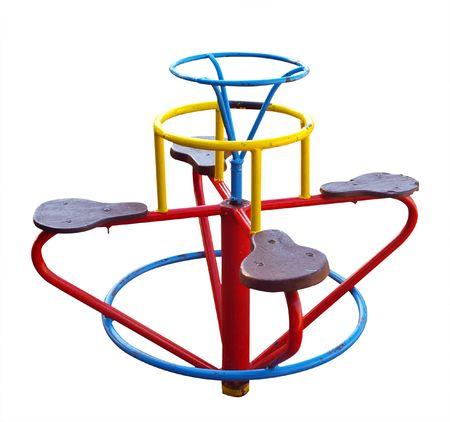 playground equipment: Self Propelled Merry-Go-Round isolated