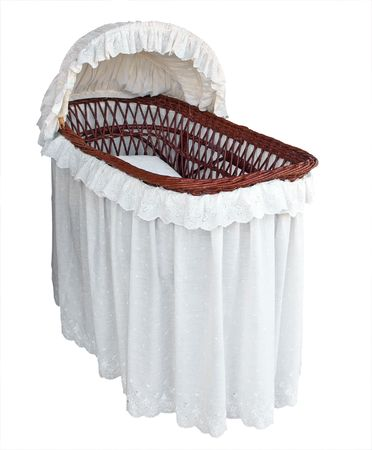Covered Cane Bassinet Isolated with clipping path