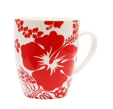 Floral Mug isolated with clipping path Stock Photo - 3400815