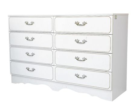 Painted Chest of Drawers isolated with clipping path Stock Photo - 3400825
