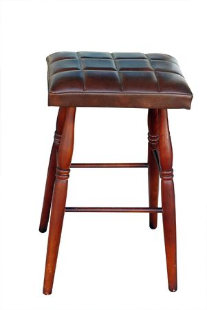 padded: Padded Stool isolated with clipping path