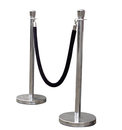 Portable Barrier for Queue Control isolated with clipping path         Stock Photo