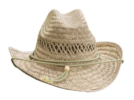 stetson: Flax Woven Stetson isolated  Stock Photo