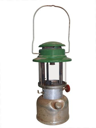 Antique Hurricane Lamp isolated  photo