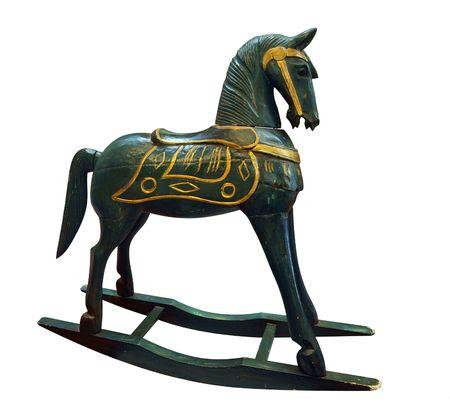 Antique Rocking Horse isolated Stock Photo - 4639450