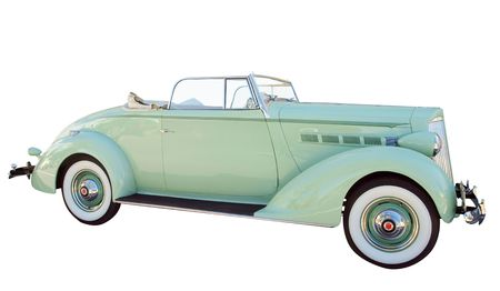 1937 Packard isolated with path