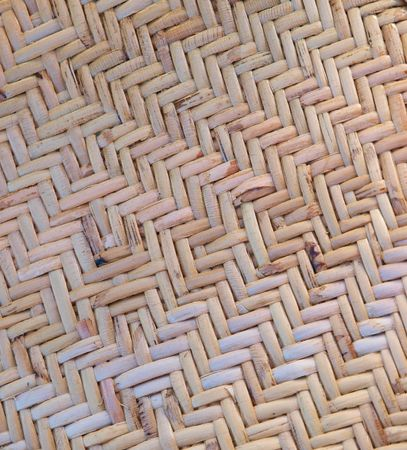 Close up of woven cane        photo