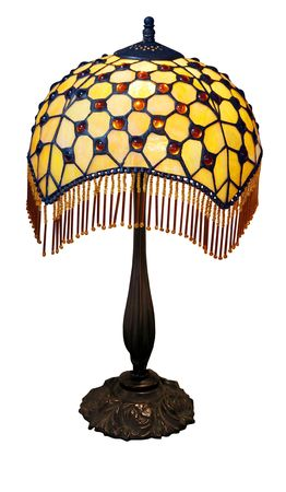 home accents: Art Deco Lamp isolated