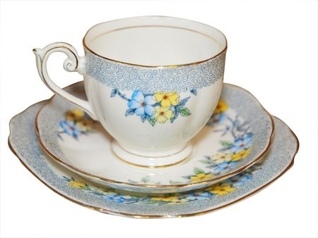 Antique Cup Saucer and Plate Stock Photo - 4827961