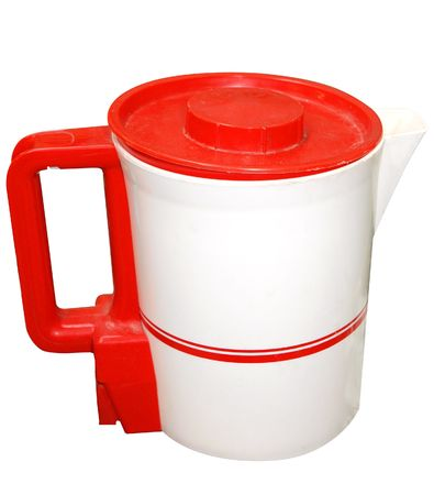 Red and White Electric Jug isolated Stock Photo - 4924260