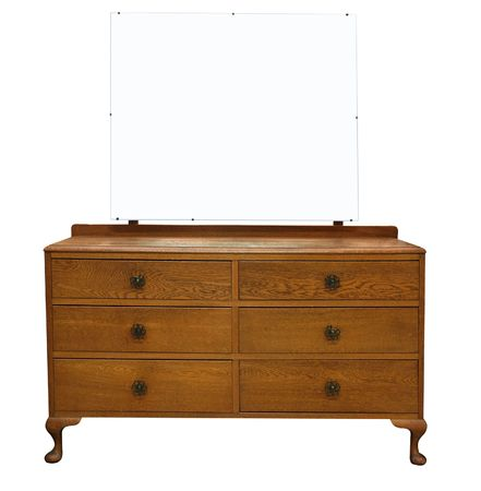 Antique Dressing Table with Mirror Stock Photo - 5053715