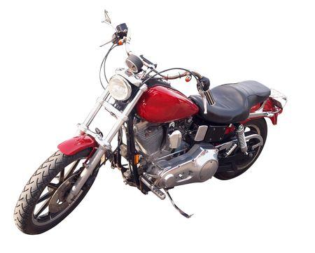 throttle: Red Motorbike Stock Photo
