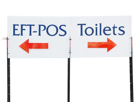 eftpos: Eft-Pos and Toilet Sign