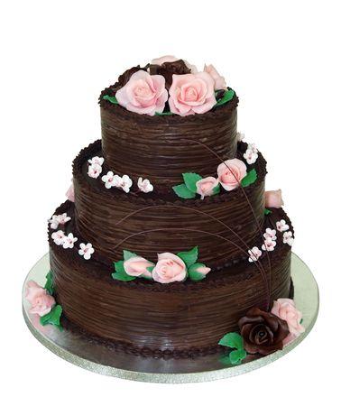 tiered: Three Tiered Chocolate Cake