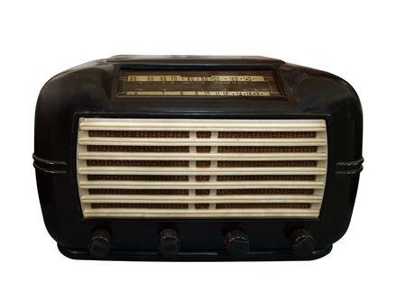 antique: Antique Radio  Stock Photo