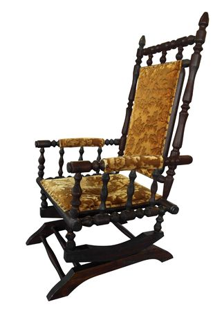 antique chair: Antique Rocking Chair isolated