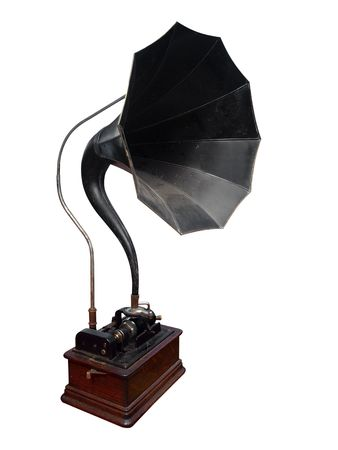 Antique Cylinder Gramophone photo