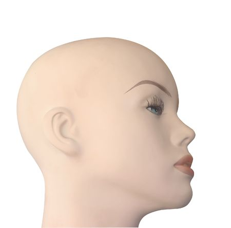 Bald Shop Mannequin Head isolated photo