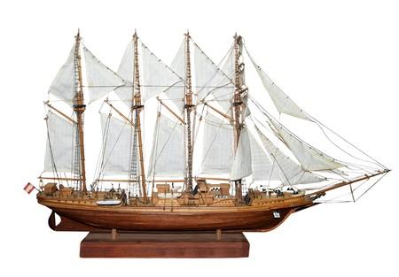 Antiguos barcos de vela de modelo aislado  Foto de archivo - 7101350