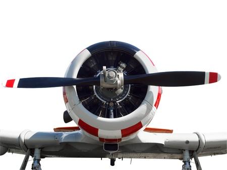 Close up of a vintage  aircraft  photo
