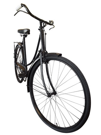 Old Ladies Bike Stock Photo