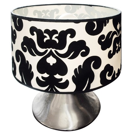 Black and White Table Lamp Stock Photo - 7732814