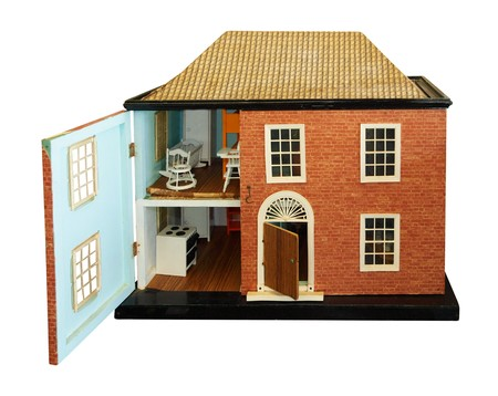 doll house: Antique Dolls House with open front