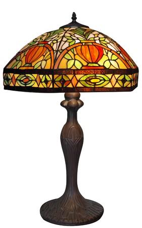 Large Lead-light Lamp Stock Photo