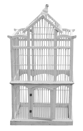 Antique Wooden Birdcage  photo