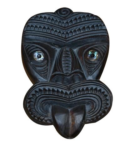 Maori Wood Carved Tiki Mask