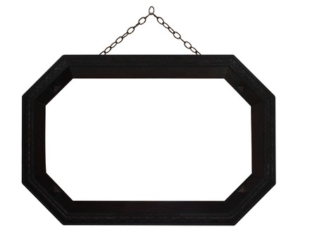 octagonal: Octagonal Frame with Chain Stock Photo