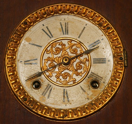 romeinse cijfers: Antieke Wind wijzer plaat met Romeinse cijfers