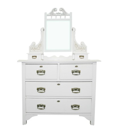 dressing table: Antique White Dressing Table