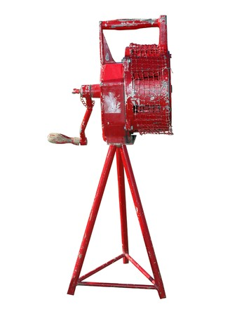 firealarm: Antique Manual Fire Siren isolated