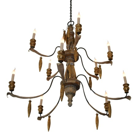chandelier isolated: Antique Chandelier isolated