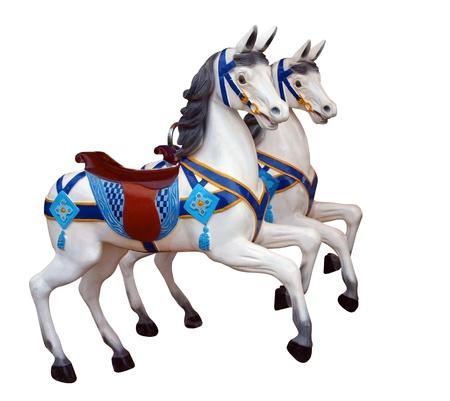 merry go round: Two Merry-Go-Round Horses