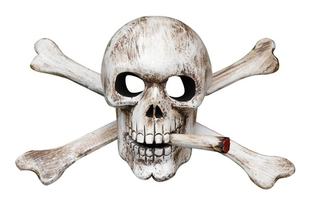 Skull and Cross Bones with Cigarette