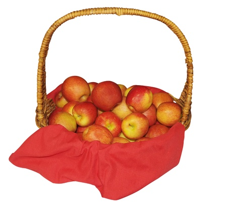 Apples in Basket isolated  Stock Photo - 13084283