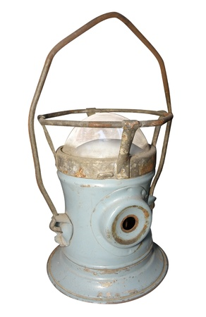 kerosene lamp: Antique Hurricane Lamp isolated