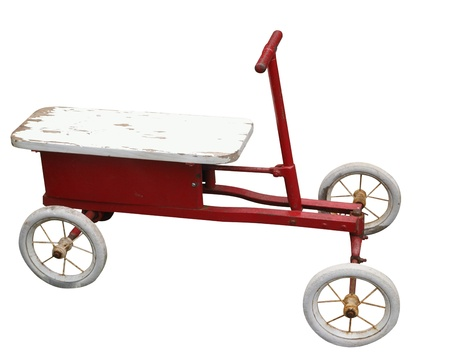 Antque Ride-on Toy isolated photo