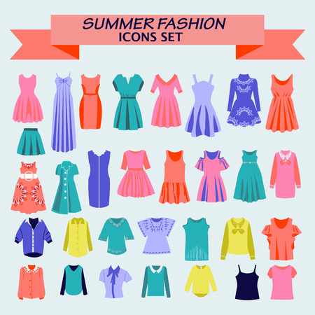 Fashion boutique  for design woman shirts and dresses colorful  for you design.
