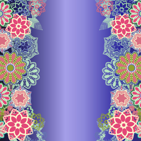 vector abstract Beautiful floral decorative background-illustration
