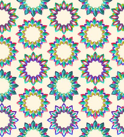 beautyful: vector vintage geometric floral beautyful ornamental pattern on light background Illustration