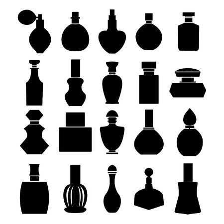 glass bottle: Bottle icon collection Illustration
